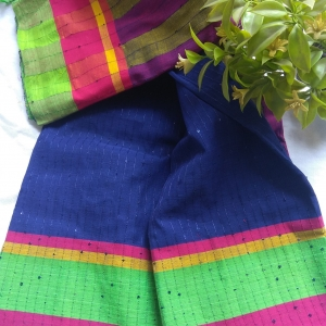 cotton chumki shree (blue) 2